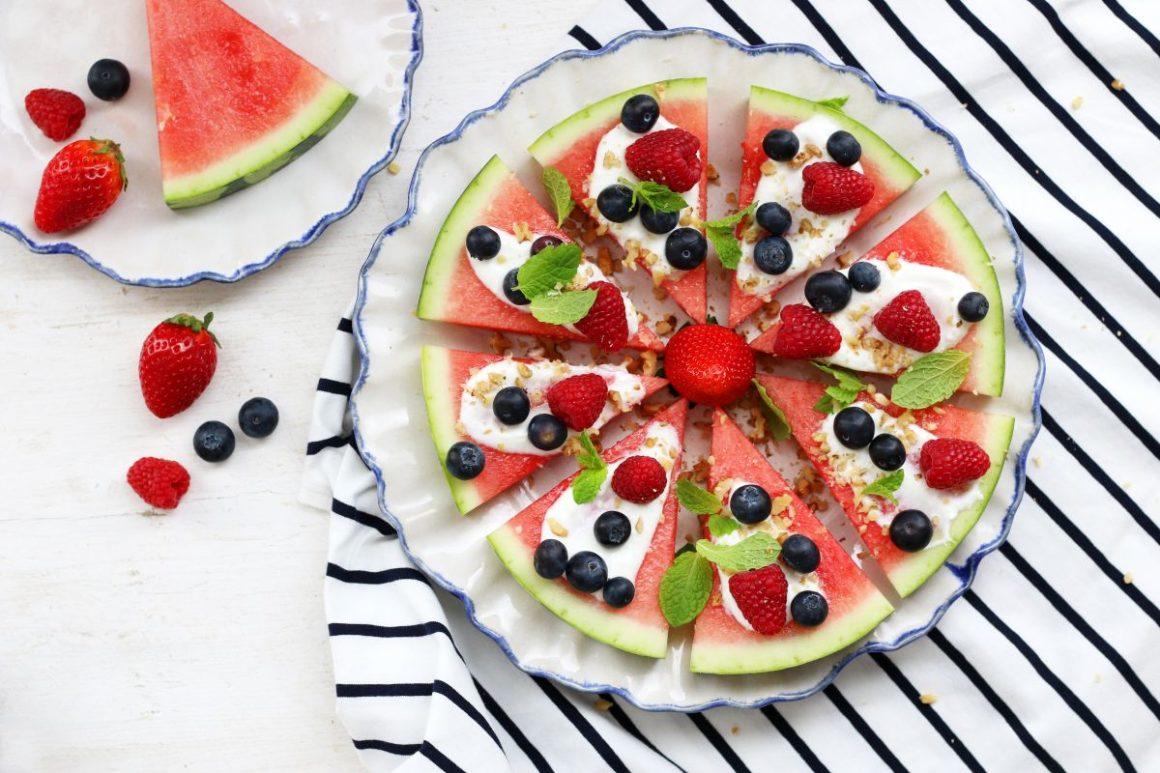 Letní melounová pizza 1