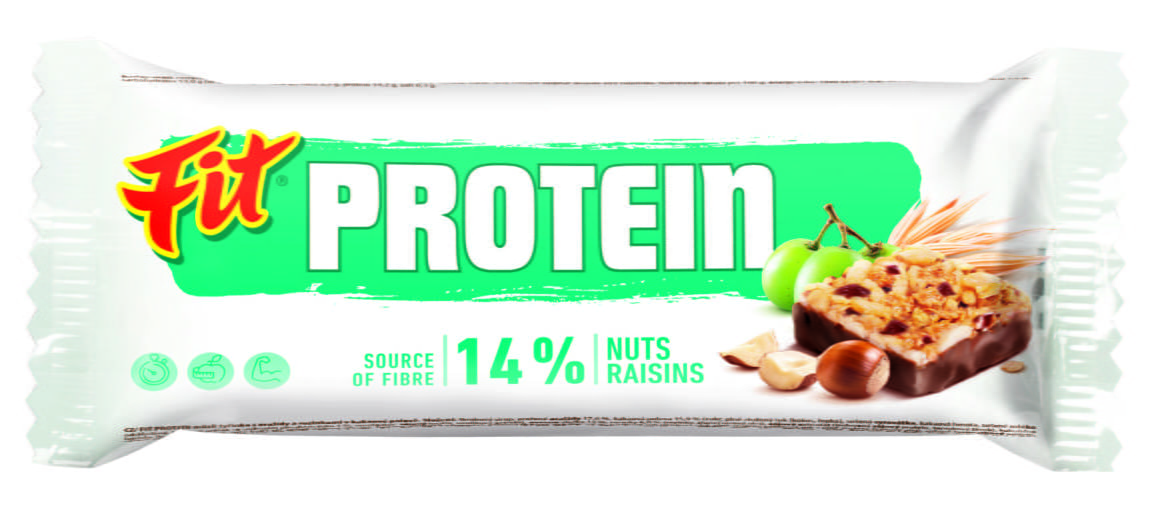 Fit Protein ořech rozinka kakao obal
