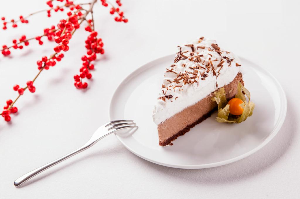Slavnostní novoroční dvoučokoládový cheesecake