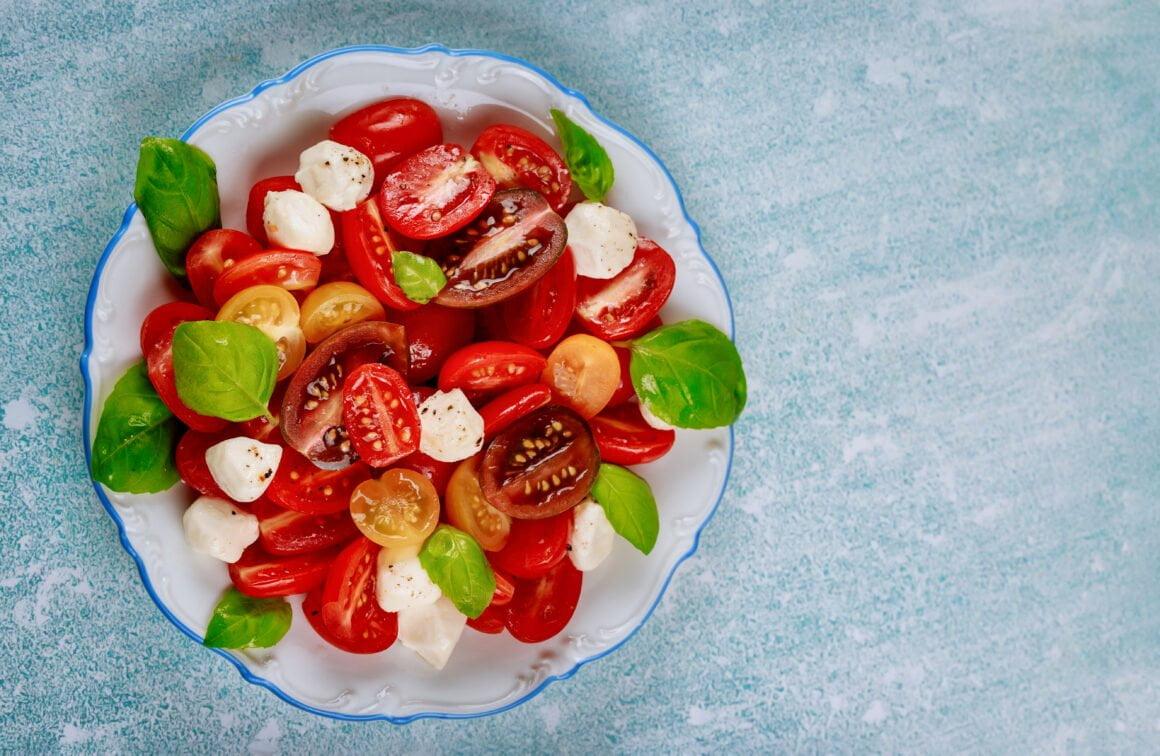 Mozarella a zelenina